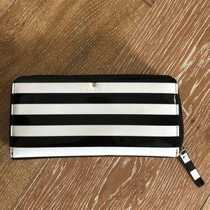 KATE SPADE wallet - black and white stripe
